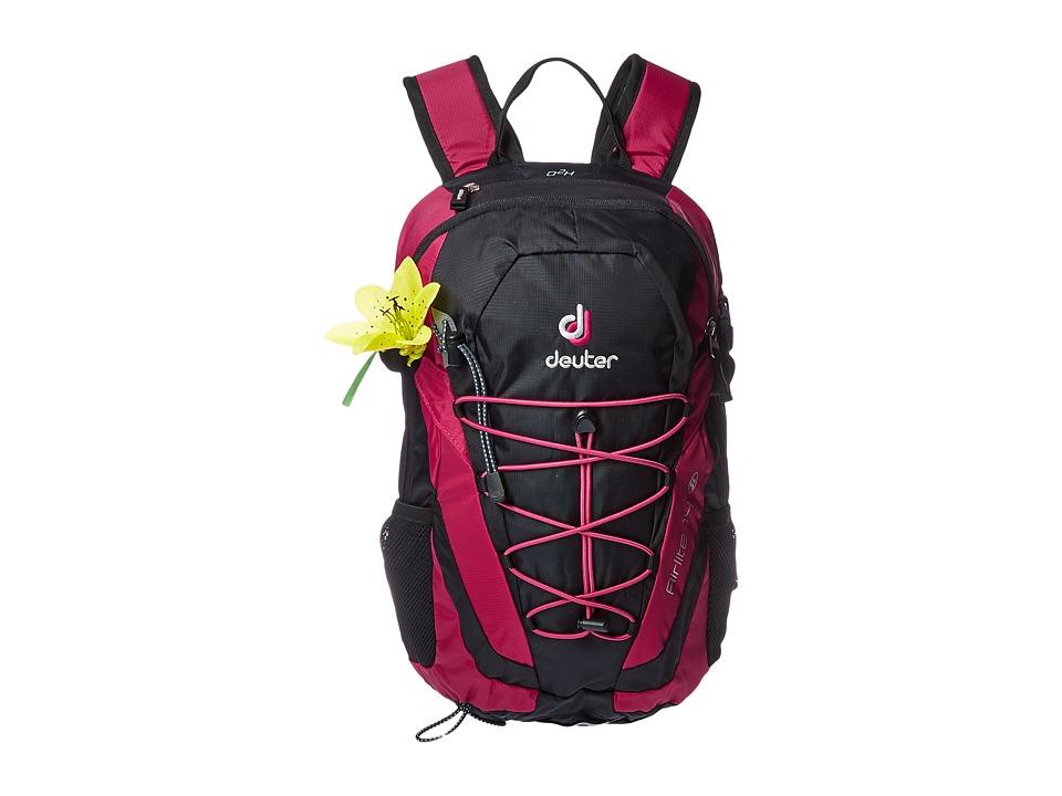 Deuter - Airlite 14 SL (Black/Magenta) Backpack Bags