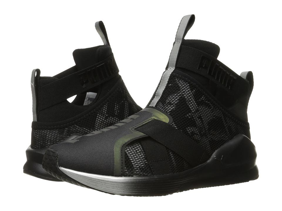 PUMA - Fierce Strap Swan (Puma Black/Puma Black) Womens Shoes