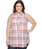 Roper - Plus Size 0859 Coral Plaid Shirt