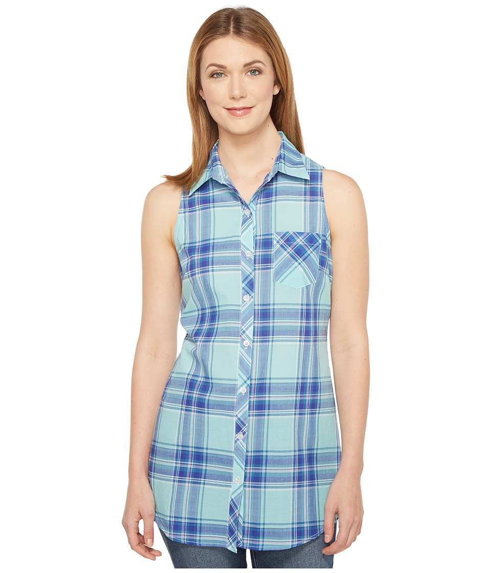 Roper Roper - 0854 Turquoise Plaid Sleeveless Shirt