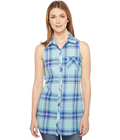Roper - 0854 Turquoise Plaid Sleeveless Shirt