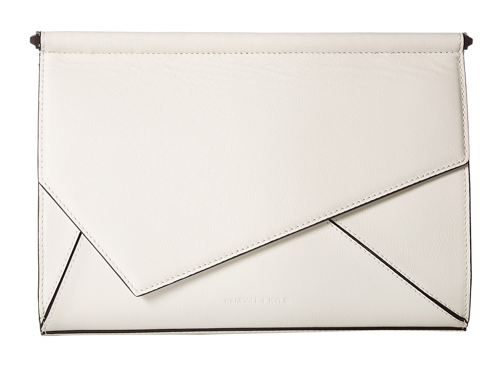 KENDALL + KYLIE Ginza Clutch (White) Clutch Handbags