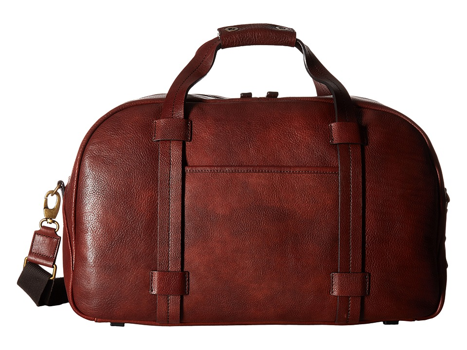 Bosca Washed Leather Collection Duffel (Brown) Duffel Bags