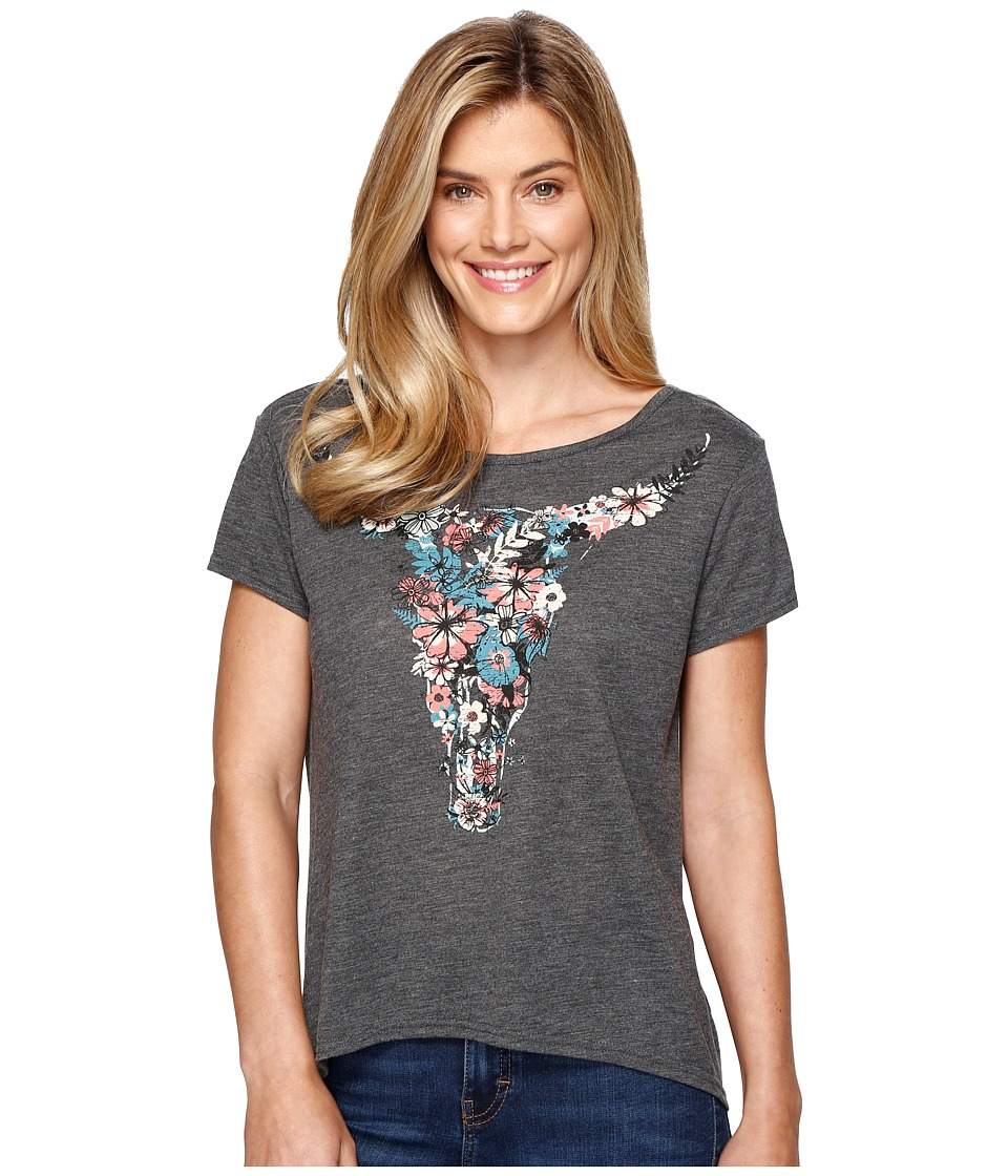 Roper 0891 Poly Cotton Heather Jersey Tee (Grey) Women