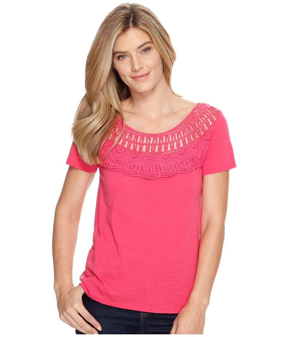 Roper 0892 Slub Jersey Short Sleeve Tee (Red) Women