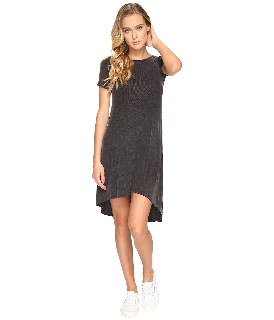 Billabong Get It Tee Dress (Off-Black) Women