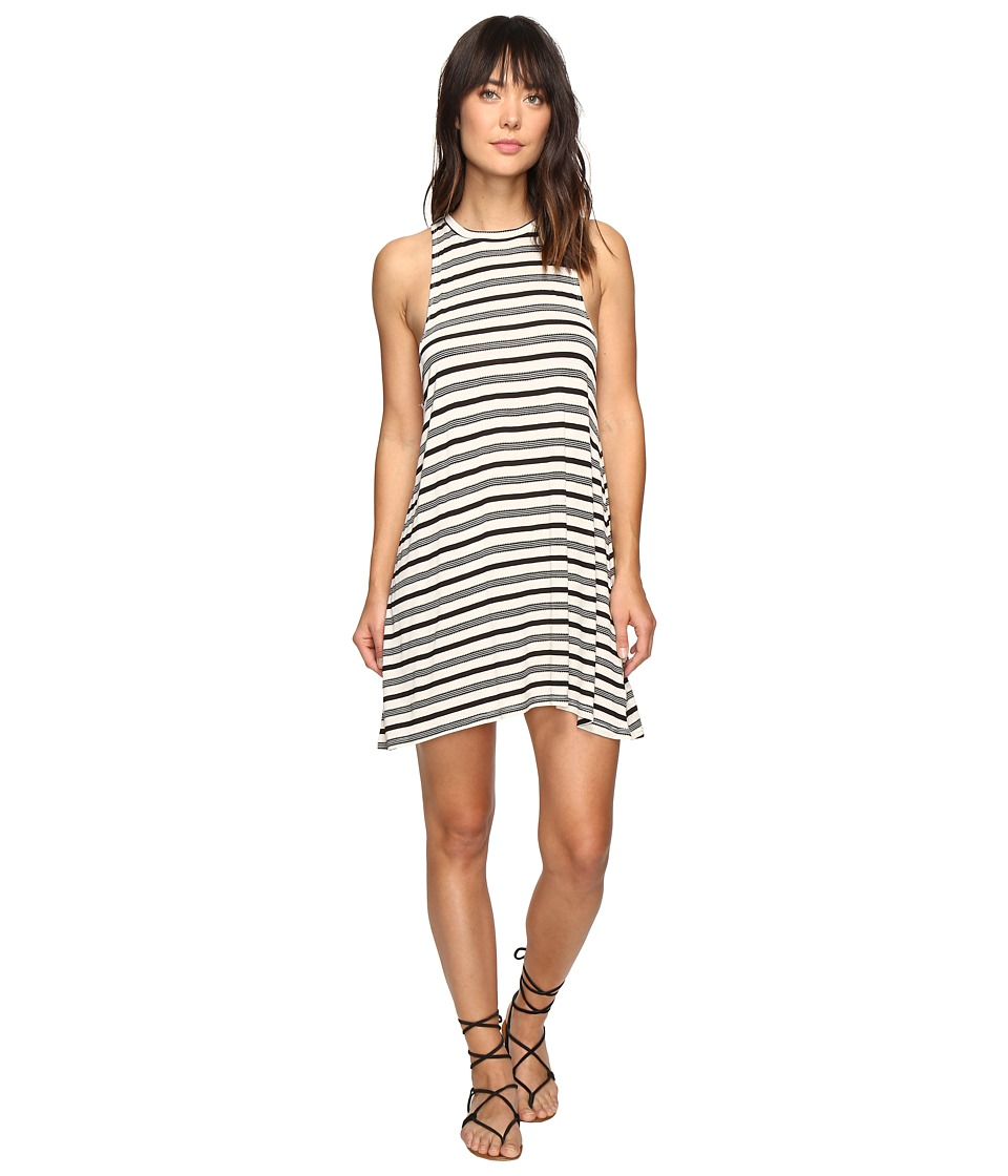 Billabong By and By Tee Dress (Black/White) Women