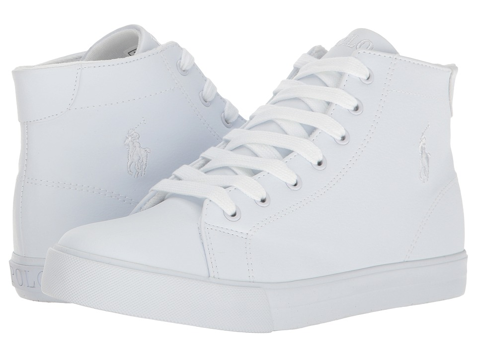 Polo Ralph Lauren Kids Slater Mid (Big Kid) (Triple White Tumbled) Kid's Shoes