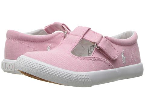 Polo Ralph Lauren Kids Tabby T-Strap (Toddler) - Light Pink Chambray/White PP