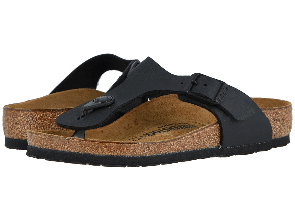 Birkenstock Kids - Gizeh (Little Kid/Big Kid) (Black Birko-Flor) Girls Shoes