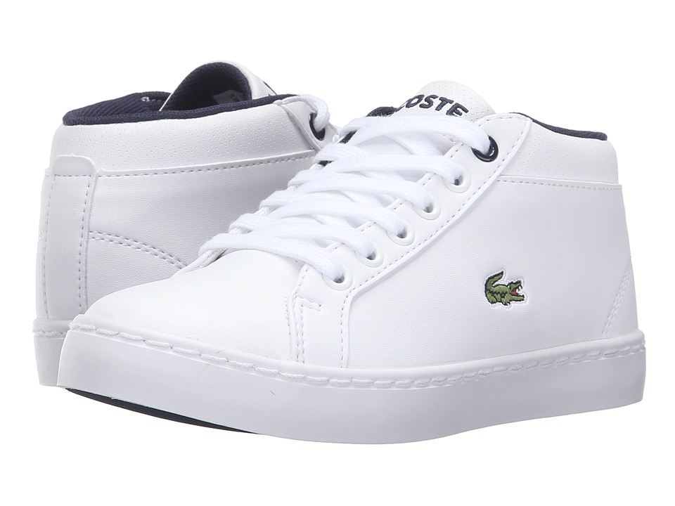 Lacoste Kids - Straightset Chukka 316 2 (Little Kid) (White) Kids Shoes