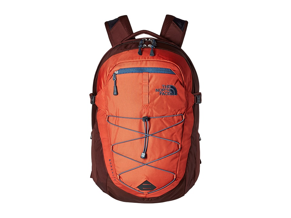 The North Face Borealis Backpack (Tibetan Orange/Sequoia Red) Backpack Bags