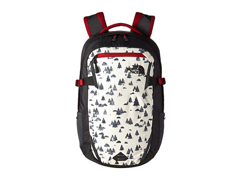 The North Face Iron Peak Backpack - Vintage White Sasquatch Print/Cardinal Red (Prior Season)