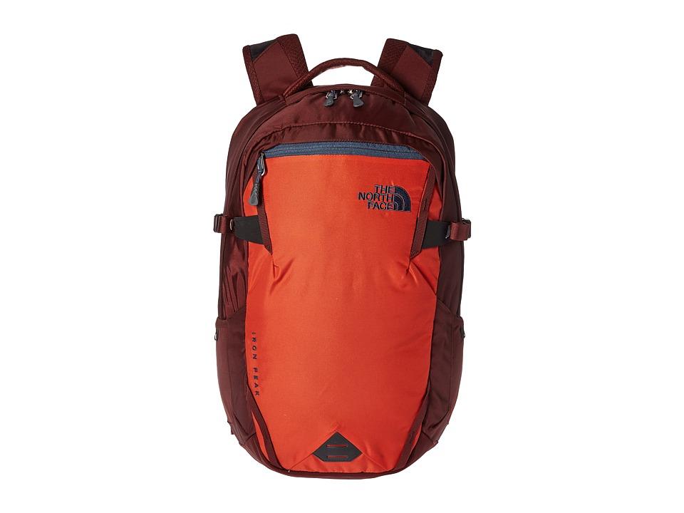 North Face Iron Peak Backpack (Tibetan Orange/Sequoia Red...