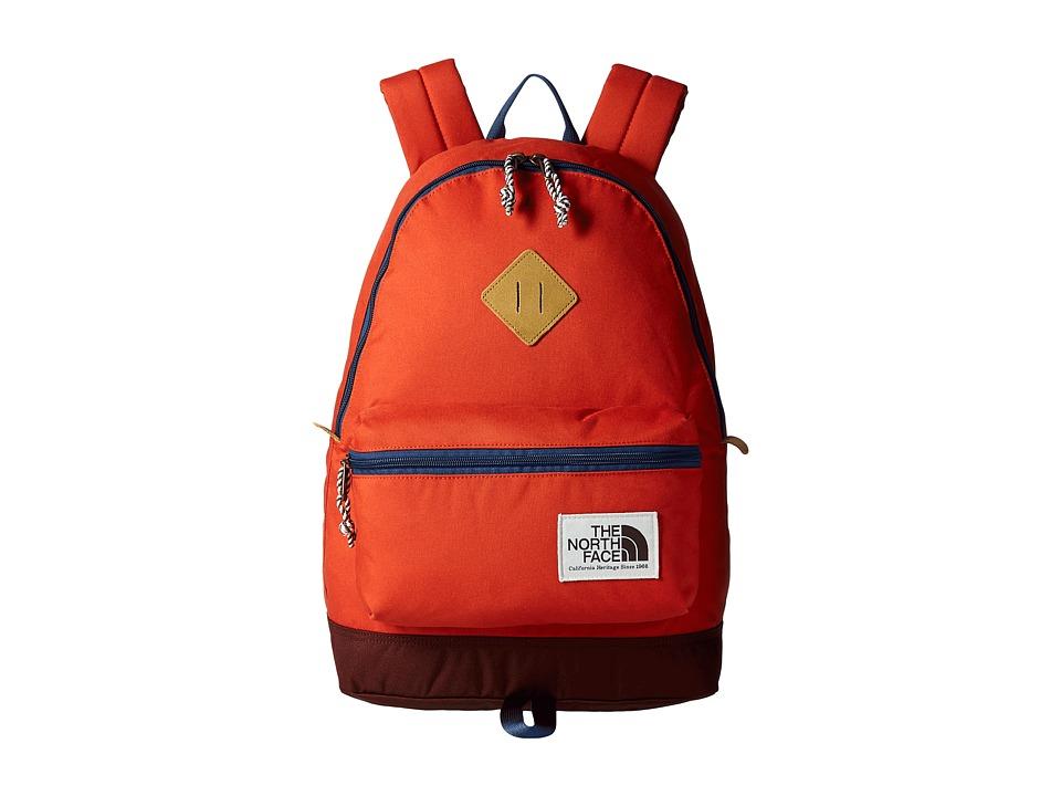 The North Face Berkeley Backpack (Tibetan Orange/Shady Blue) Backpack Bags