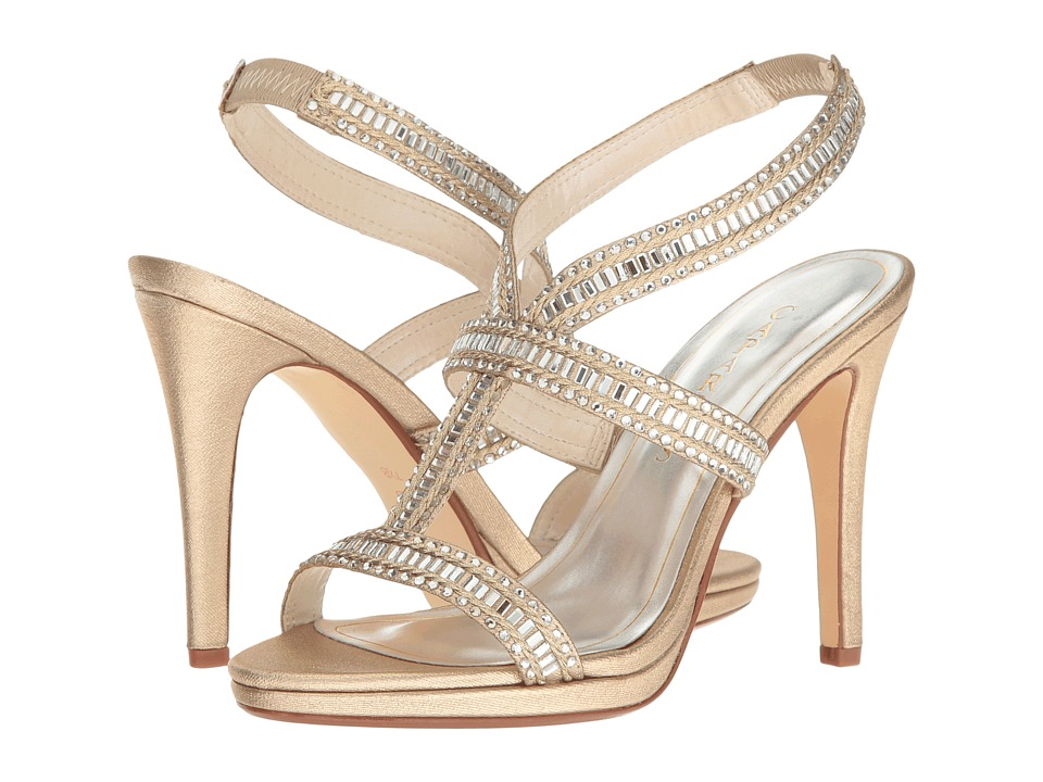 Caparros Givenchy (Gold Metallic Fabric) High Heels