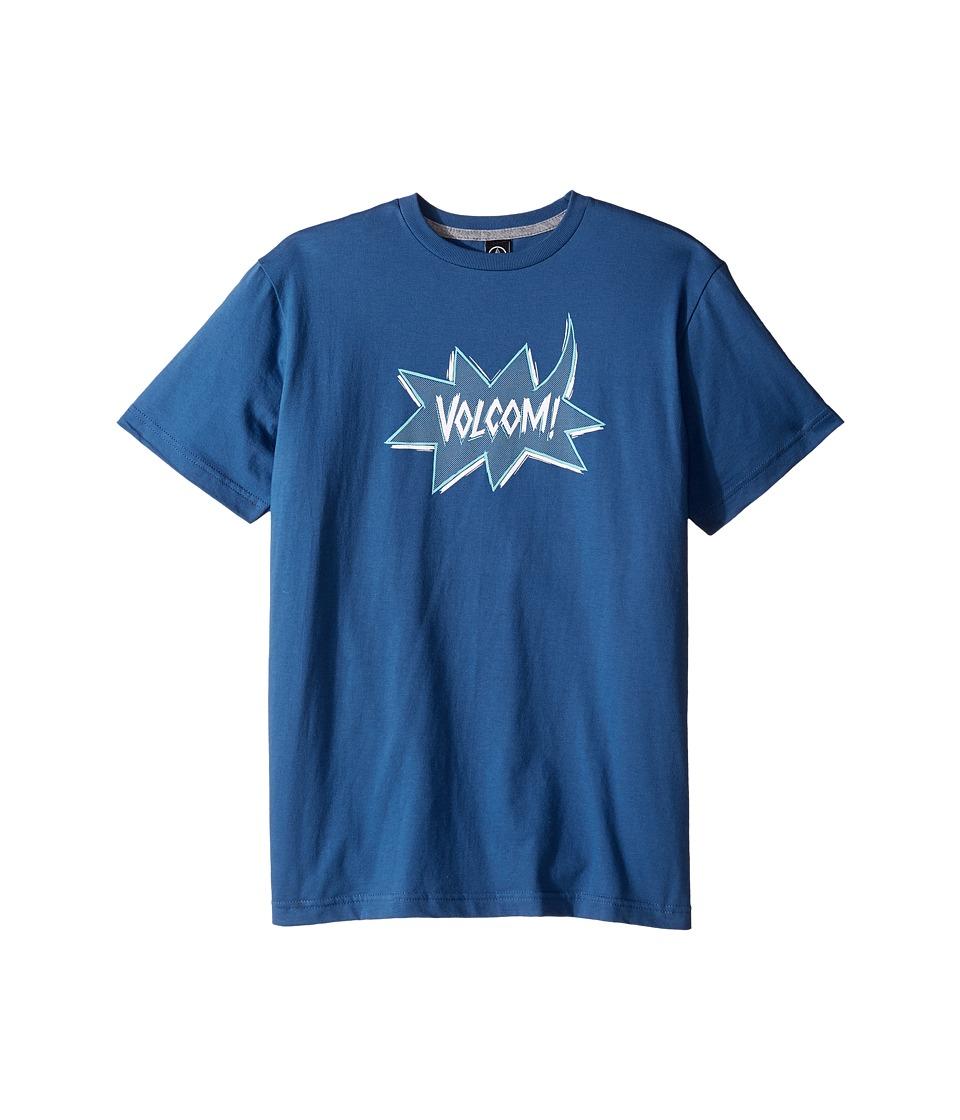 Volcom Kids Screech Short Sleeve Tee (Big Kids) (Smokey Blue) Boy