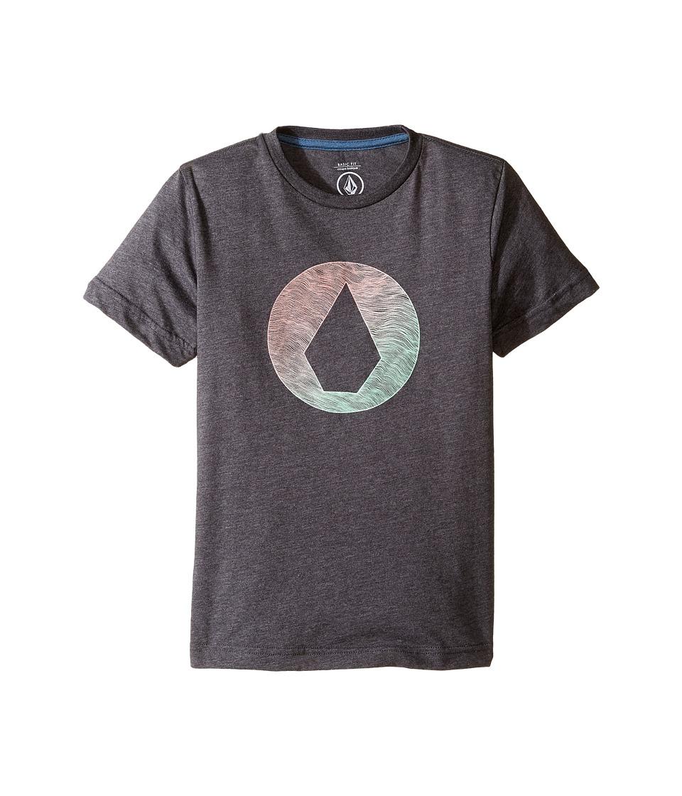 Volcom Kids Inprint Short Sleeve Tee (Toddler/Little Kids) (Heather Black) Boy