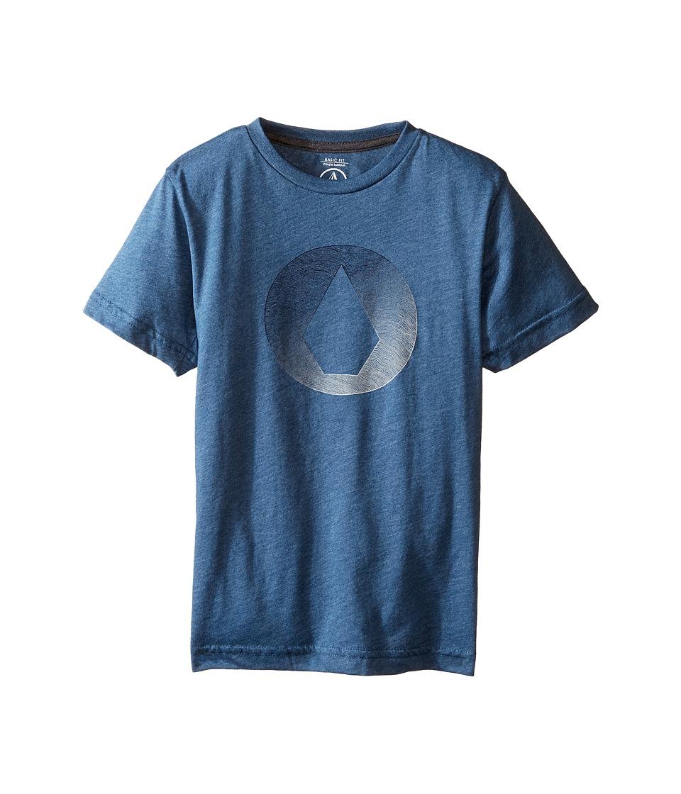 Volcom Kids Inprint Short Sleeve Tee (Toddler/Little Kids) (Smokey Blue) Boy