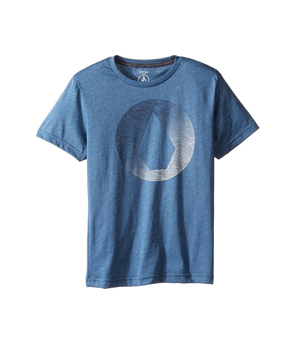 Volcom Kids Inprint Short Sleeve Tee (Big Kids) (Smokey Blue) Boy