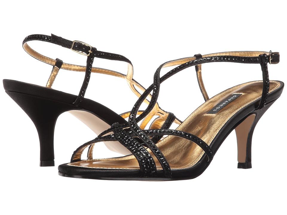 Caparros Pandora (Black Satin) Bridal Shoes