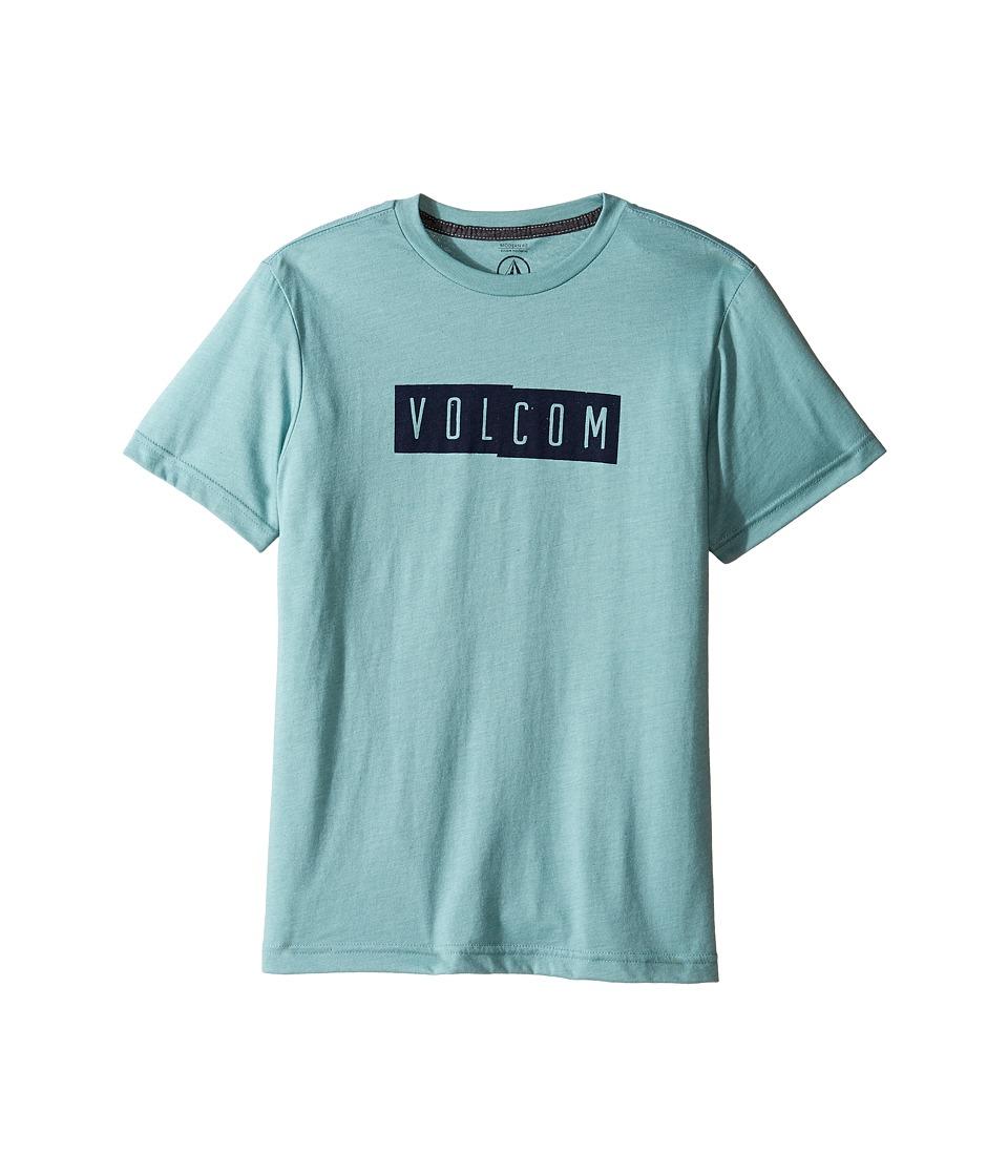 Volcom Kids Shifty Short Sleeve Tee (Big Kids) (Sea Blue Heather) Boy