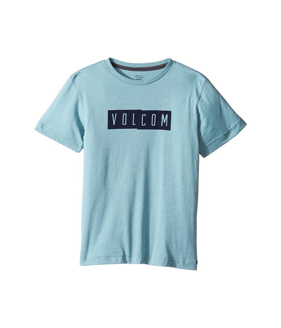 Volcom Kids Shifty Short Sleeve Tee (Toddler/Little Kids) (Sea Blue Heather) Boy