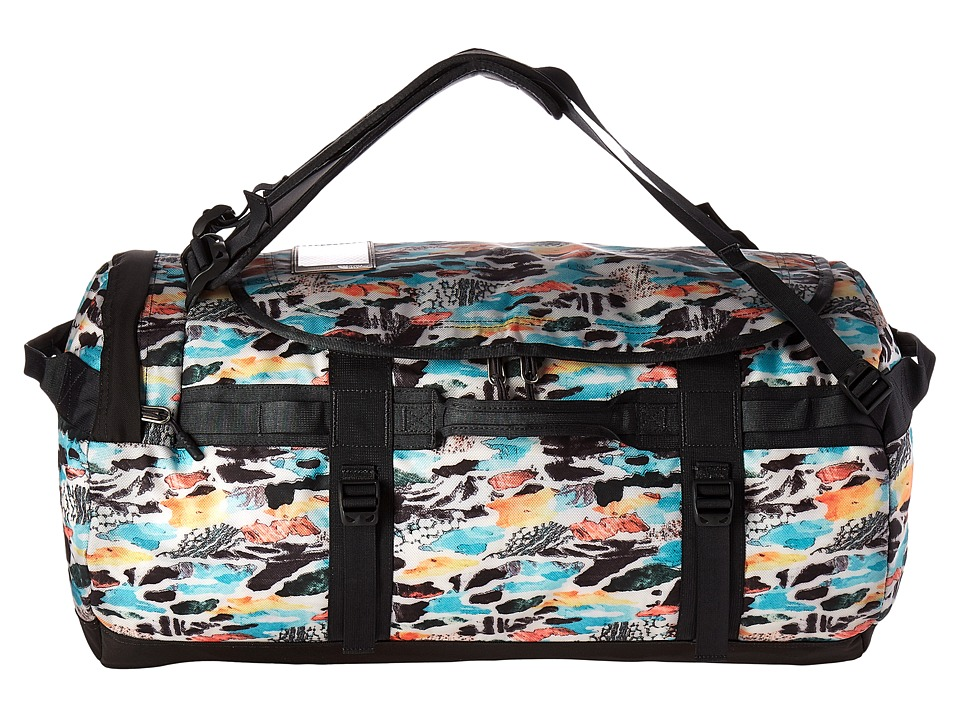 The North Face Base Camp Duffel Medium (Snow White Cut Out Camo Print/Asphalt Grey) Duffel Bags