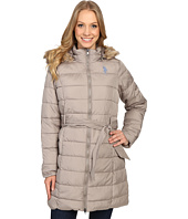 U.S. POLO ASSN. - Long Puffer Jacket with Fur Hood