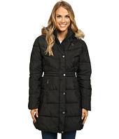 U.S. POLO ASSN. - Long Puffer Coat with Faux Fur Trimmed Hood