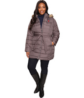 U.S. POLO ASSN. - Plus Size Long Belted Puffer with Fur Hood
