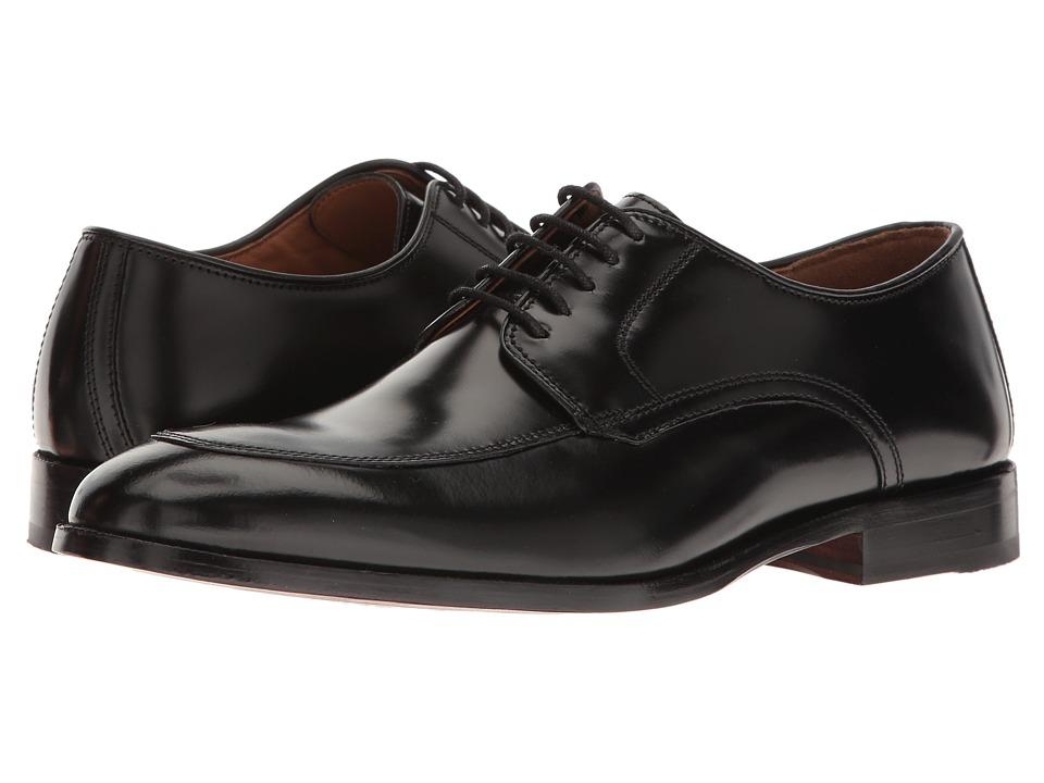 Johnston & Murphy - Bradford Moc Lace-Up (Black Brush-Off) Mens Lace Up Moc Toe Shoes