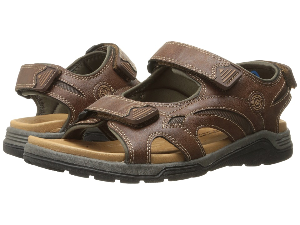 Nunn Bush Mojave Two Strap Sandal (Cognac Chamois) Men