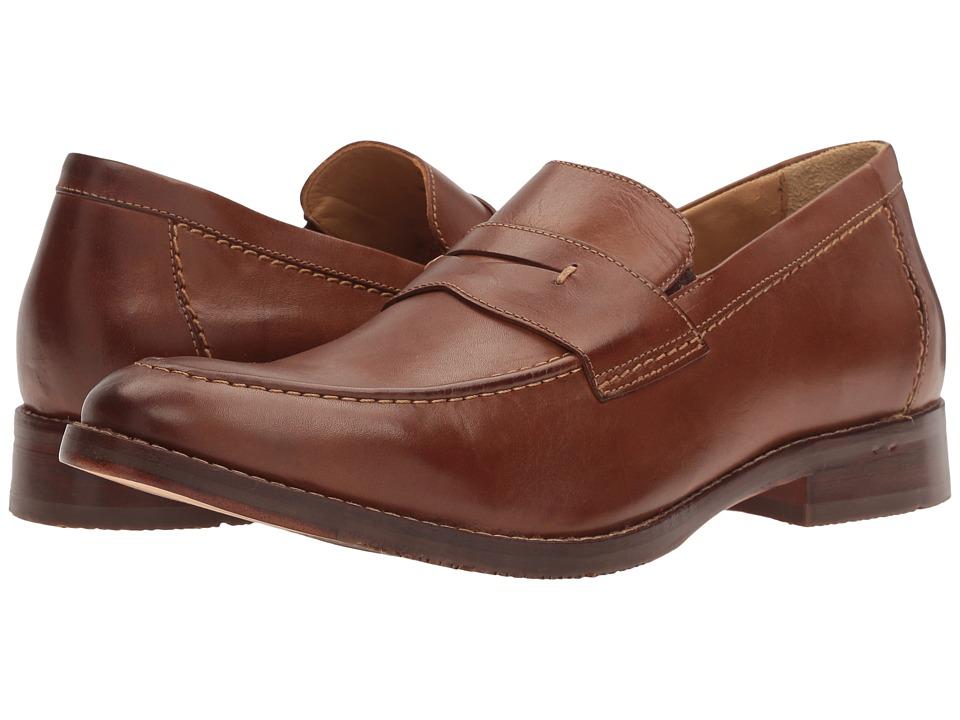 Johnston & Murphy - Garner Penny (Tan Full Grain) Mens Shoes