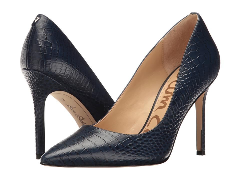 Sam Edelman Hazel (Sea Blue Roma Mini Croco Leather) Women