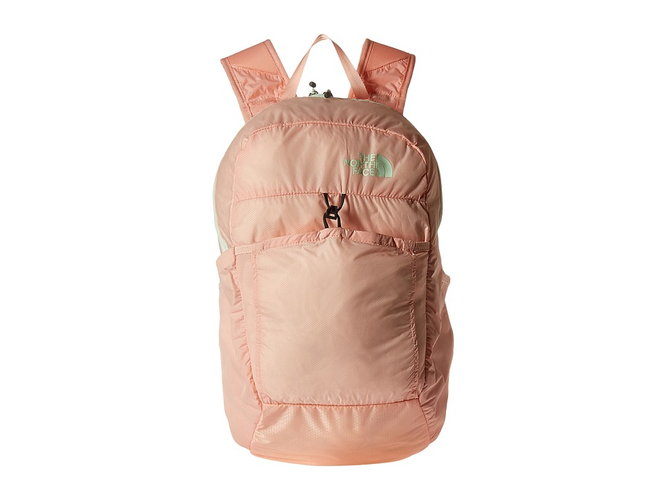 The North Face Flyweight Pack (Tropical Peach/Ambrosia Green) Backpack Bags