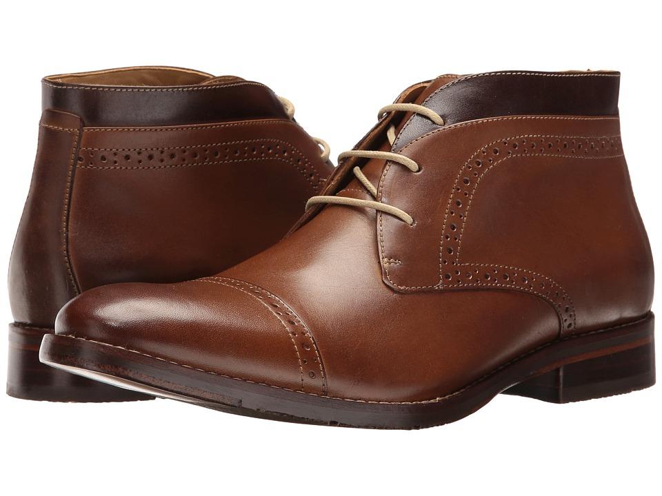 Johnston & Murphy Garner Cap Toe Boot (Tan Full Grain) Me...