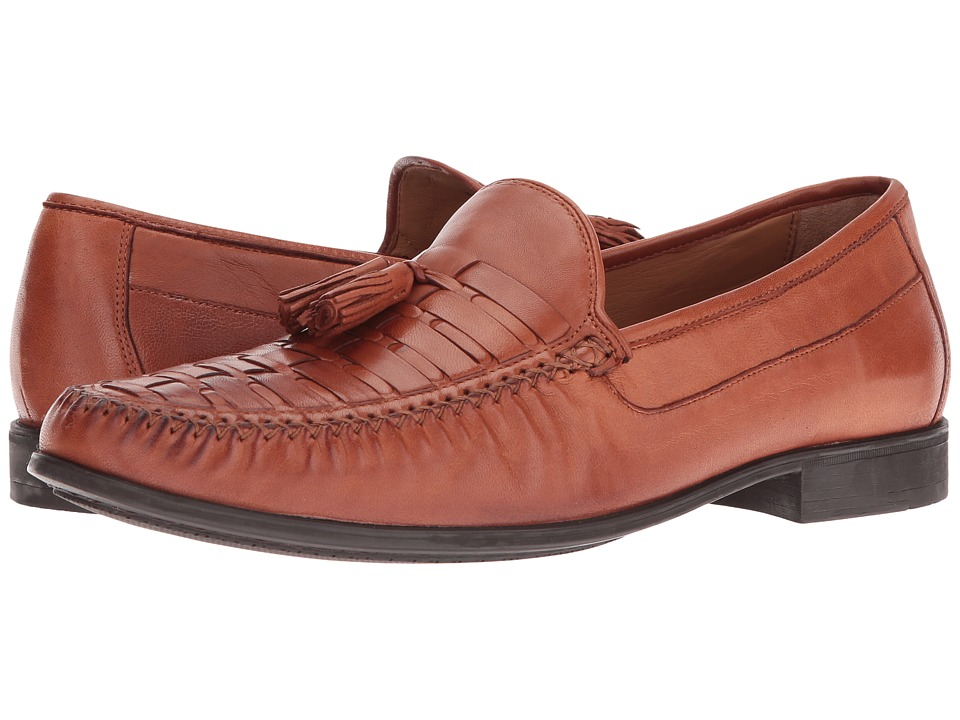Johnston & Murphy Cresswell Woven Tassel (Cognac Sheepski...