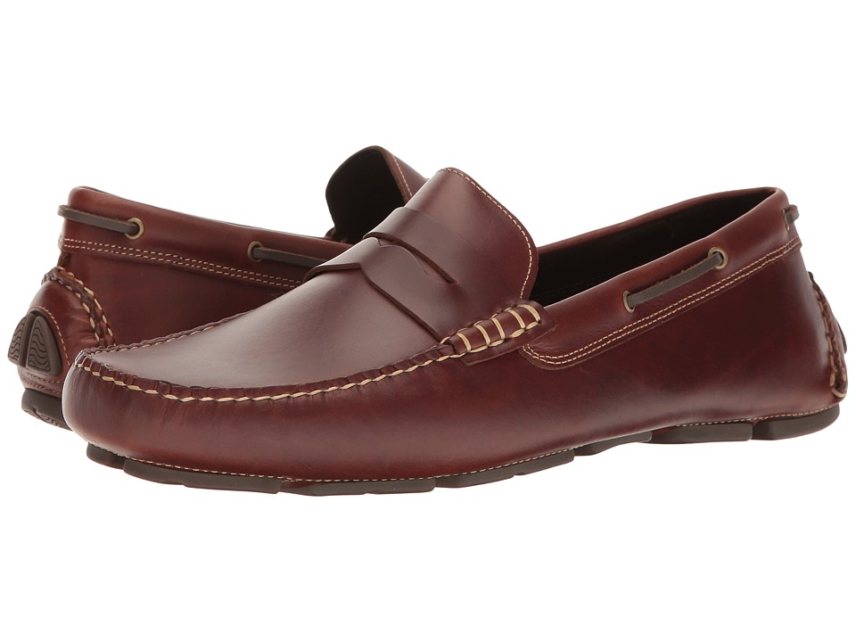 Johnston & Murphy - Gibson Penny Driver (Tan Pull-Up) Mens Shoes