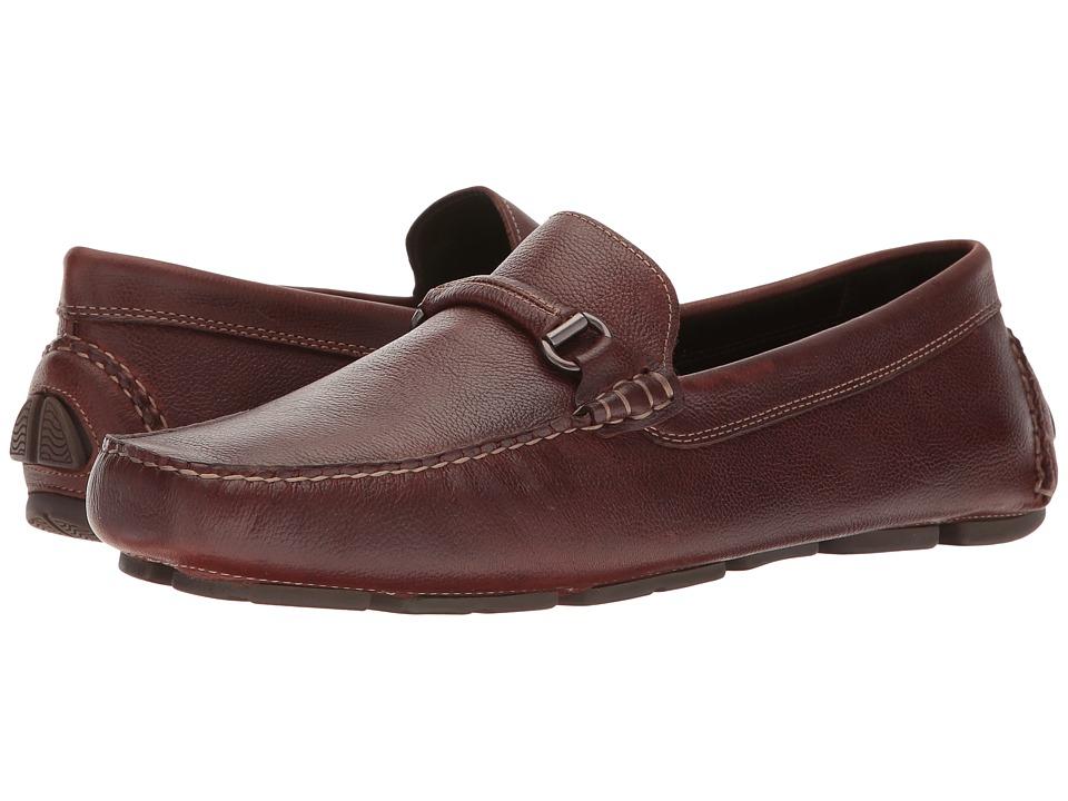 Johnston & Murphy - Gibson Bit Driver (Mahogany Tumbled Full Grain) Mens Slip on  Shoes