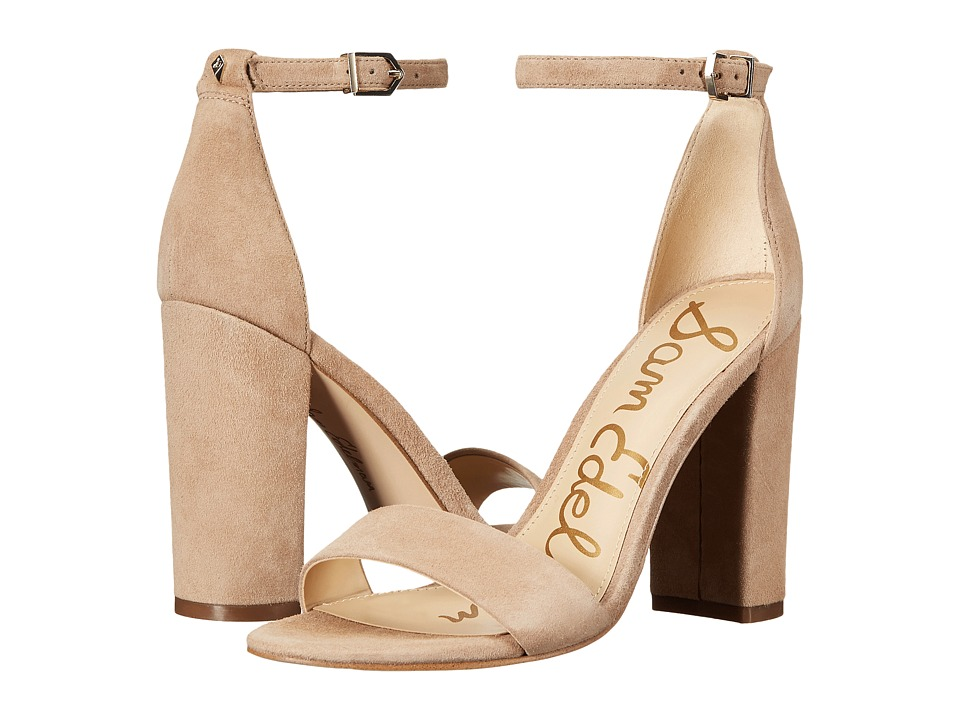 Sam Edelman Yaro Ankle Strap Sandal Heel (Oatmeal) Women's Dress Sandals