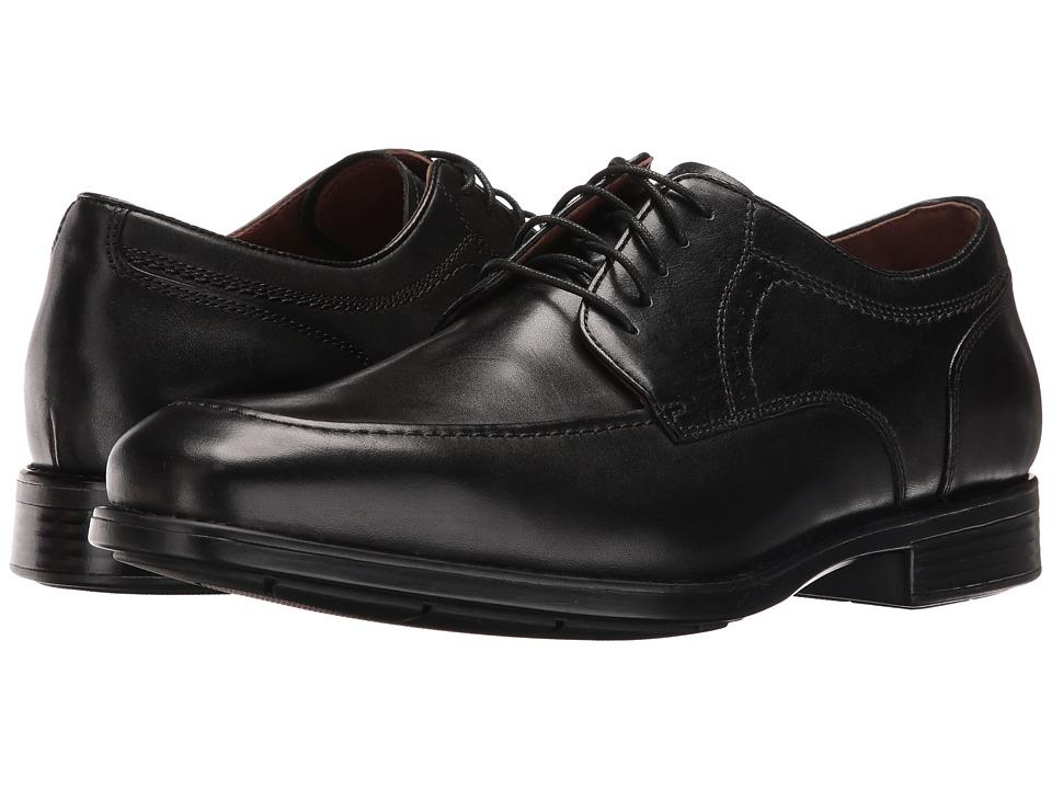 Johnston & Murphy - XC4(r) Waterproof Branning Moc Lace-Up (Black Waterproof Full Grain) Mens Lace Up Moc Toe Shoes