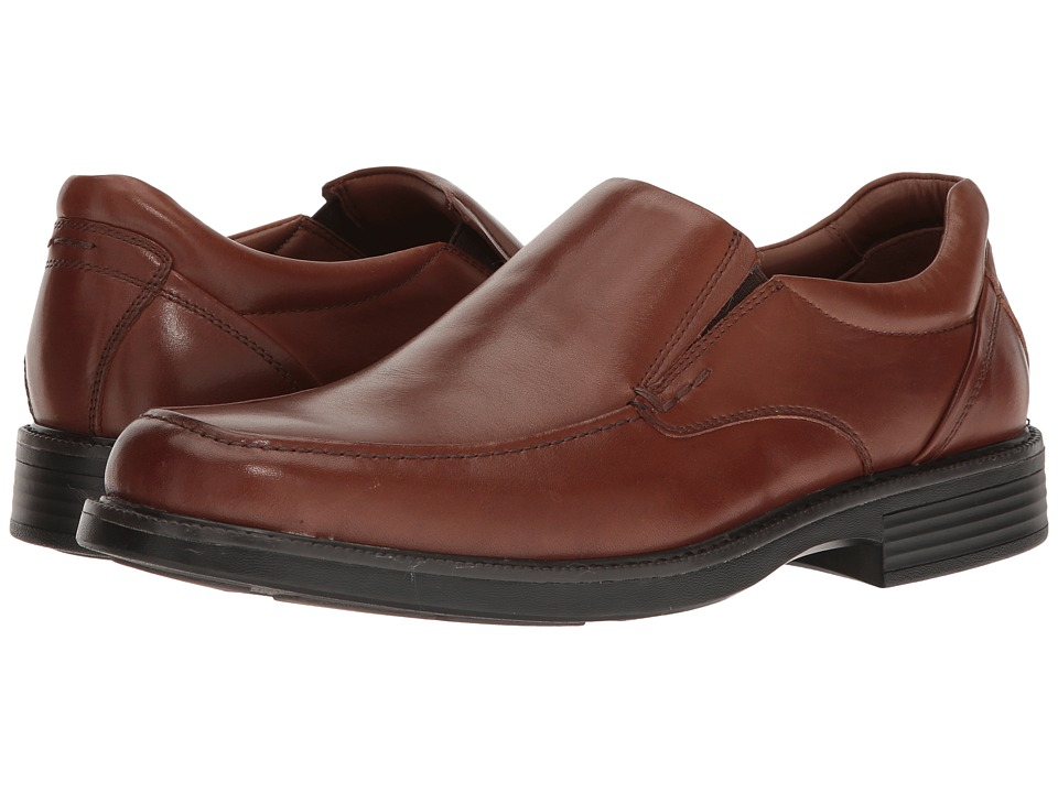 Johnston & Murphy - Waterproof Stanton Moc Toe Venetian (Tan Waterproof Full Grain) Mens Slip-on Dress Shoes