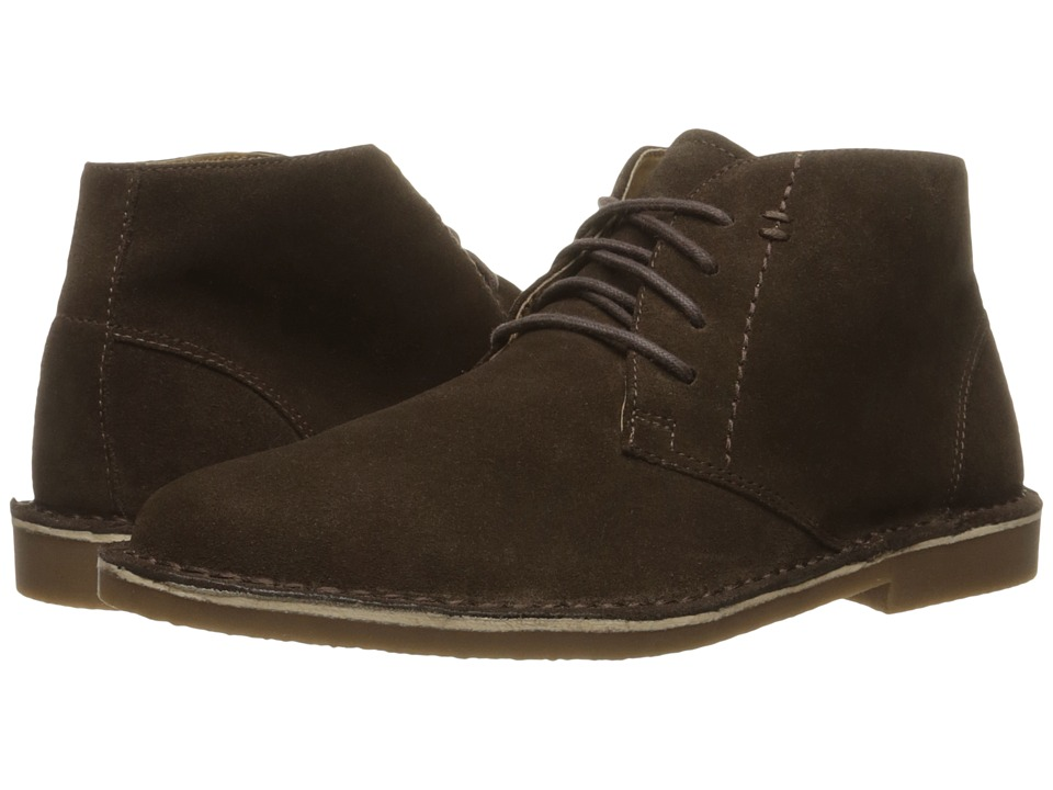 Nunn Bush Galloway Plain Toe Chukka Boot (Dark Brown) Men