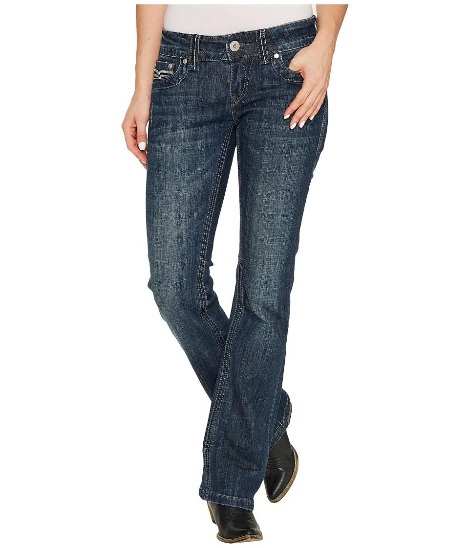 Stetson Scritch Stitch S Back Pocket (Blue) Women