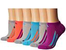 adidas Kids Vertical Stripe No Show Socks 6-Pack (Toddler/Little Kid/Big Kid/Adult)