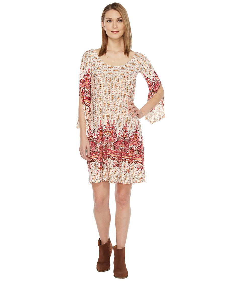 Roper 0875 Border Print Tunic/Dress (Red) Women