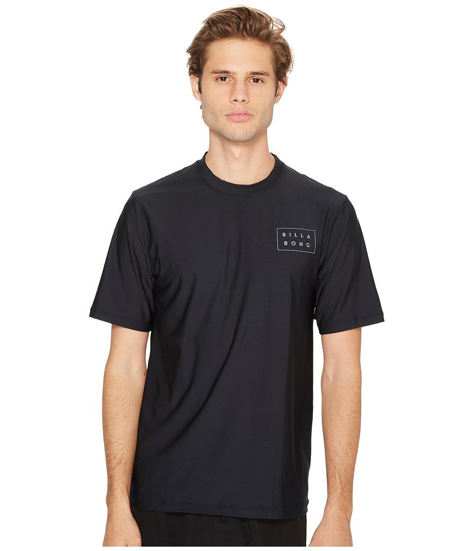 Billabong - Die Cut Loose Fit Short Sleeve (Black) Men's Swimwear