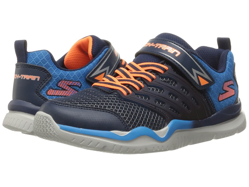 SKECHERS KIDS - Skech Train 97530L (Little Kid/Big Kid) (Navy/Blue) Boys Shoes