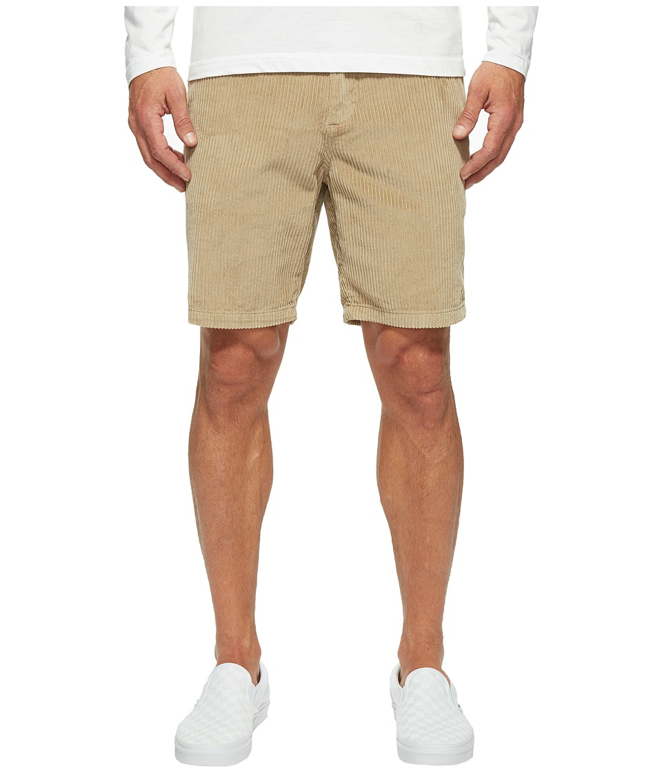 Billabong Bad Dog Cord Shorts (Light Khaki Heather) Men